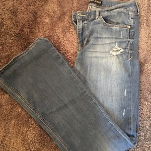 Size 10 mid rise slim flare jeans